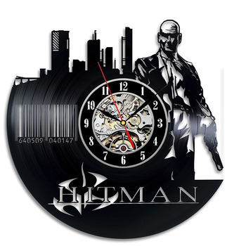 Creative Hollow CD Record Wall Clock Hitman Vinyl Record Wall Clock Antique Style Fashion Wall Art Decor Great Home Decor