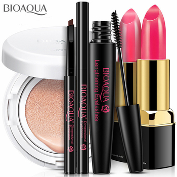 Beginner Value Pack Cosmetics Makeup Tool Kit Set 5 PCS Including BB Cream Eyebrow Pencil Mascara Lipstick With Make up Gift Box