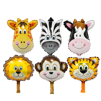 TSZWJ new mini cartoon animal baby cake aluminum balloons birthday party balloons wholesale children's toys
